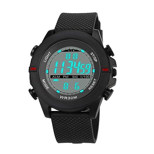 Dylung Relojes para Hombres Deportivos Reloj de Pulsera Inteligente Digital Relojes de Unisex con LED Cuarzo Japonés Correa de Silicona de Moda ...