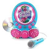 KIDdesigns Trolls CDG Karaoke Machine CD Player with Microphone