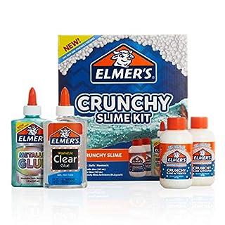 Elmer's Crunchy Slime Kit | Slime Supplies Include Metallic Liquid Glue, Clear Liquid Glue, Crunchy Magical Liquid Slime Activator, 4 Count