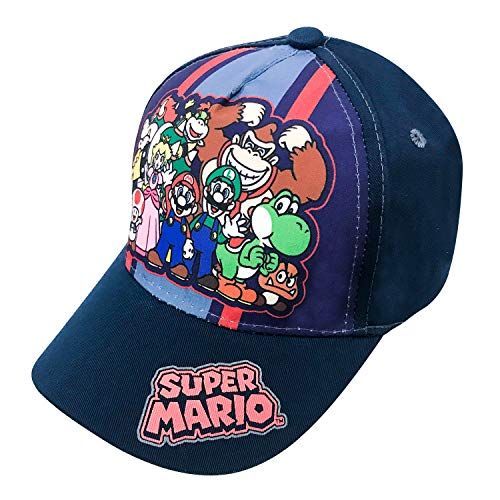 Nintendo Super Mario Family Navy Baseball Cap - Size Boys' 4-14 -
