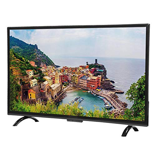 Liyeehao 4K TV, HDR TV, 32inch Large Curved Screen for Hotel Indoor, Home,(European regulations)
