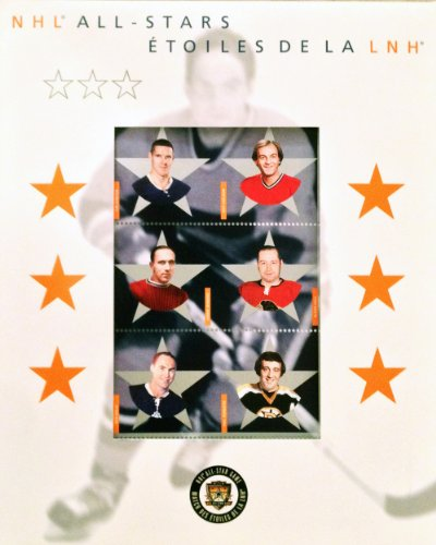 2002 Nhl All Star Jersey - Canada Post 2002 NHL Alumni All-Star Stamp Set