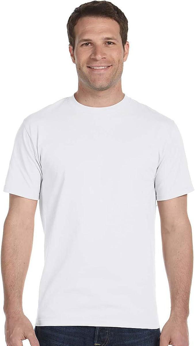 Hanes Men's Comfortsoft T-Shirt, 2 Light Steel / 2 White, 2XL (Pack of 4)