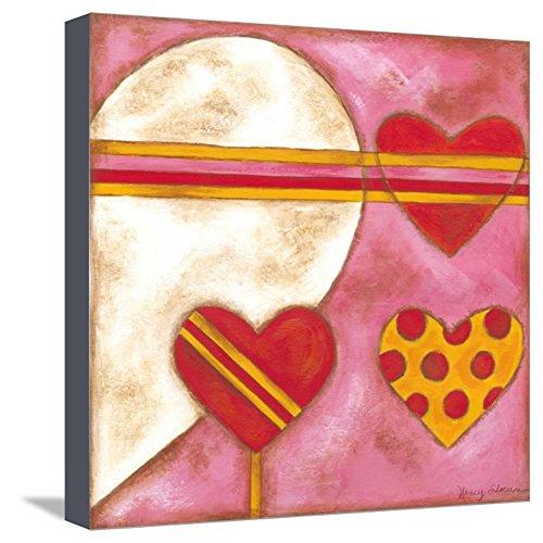 Nancy Slocum Pop - ArtEdge Pop Hearts I by Nancy Slocum, Stretched Canvas Print, 13x13 in