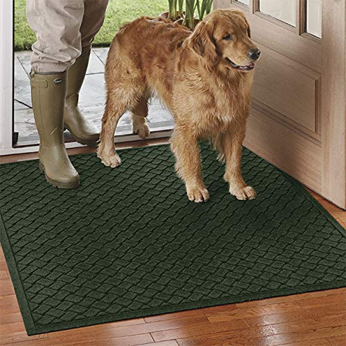 Orvis Basketweave Water Trapper Mat   2'8  X 6'8 , Evergreen,