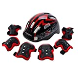 Kids'Roller Skating Protective Gear Sets(A Helmet,2Elbow Pads,2Knee Pads,2Hands)