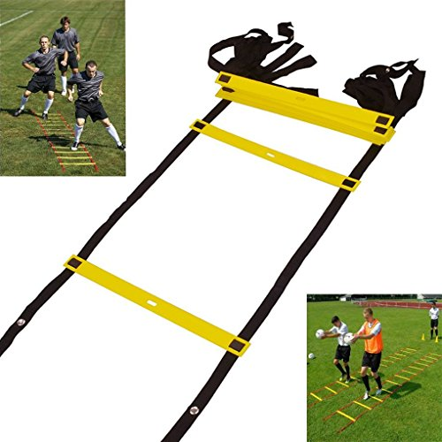 Asiacc Durable 5.5-Meter 10-Rung Agility Ladder for Soccer, Speed, Football Fitness Feet Training