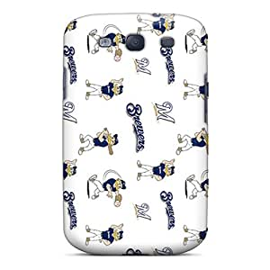 Premium Chk5583dlqM Case With Scratch-resistant/ Milwaukee Brewers Case Cover For Galaxy S3
