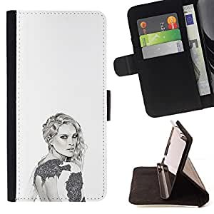 Momo Phone Case / Flip Funda de Cuero Case Cover - Fashion Design Art Style - Apple Iphone 6 PLUS 5.5