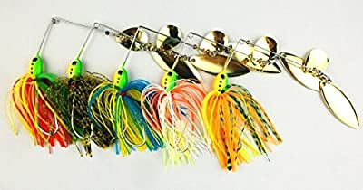 Mocase Mini Spinnerbait Hard Buzzbait Fishing Lure Jig Spoon Pike Bass