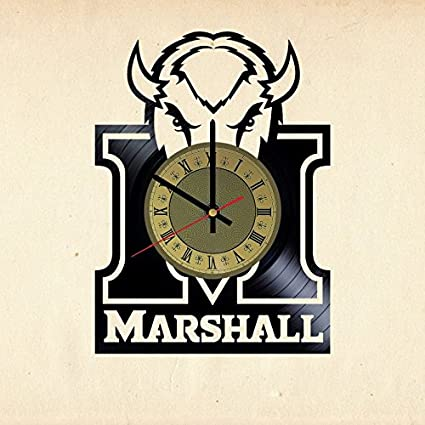 Marshall Thundering Herd Football Vinyl Record Wall Clock Gift Idea For Birthday Christmas Women