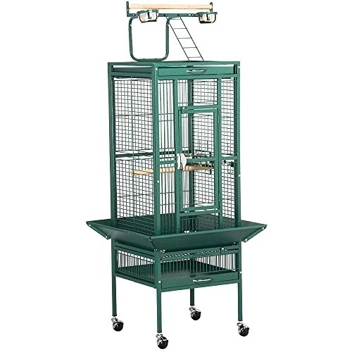 go2buy Wrought Iron Select Bird Cage Parrot Cockatoo Birdcage Stands - Bird Playtop Cage