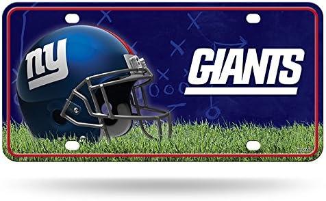 New York Giants en m/étal plaque dimmatriculation