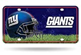 Rico Industries NFL New York Giants Metal License Plate Tag, 6″ x 12″, Multicolor