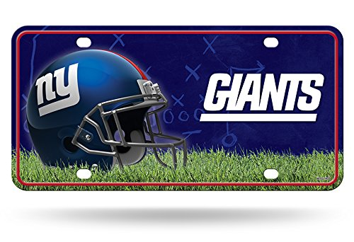 Rico Industries NFL New York Giants Metal License Plate Tag, 6