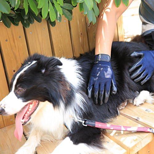 Wolfi Guantes removedores de Pelo para perro calidad PREMIUM color Azul (2 Guantes) Perfecto para Perros Gatos Caballos/Guantes de Aseo y Masaje para Mascota/Cepillo para retirar Pelo (Incluye 2 Piezas) (Par) 7