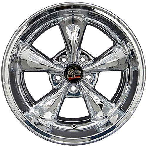 Partsynergy Replacement For Chrome Wheel Rim 17 Inch Fits 1994-2004 Ford Mustang (Rear) 5-114.3mm 112mm 5 Spokes Chrome 17x10.5