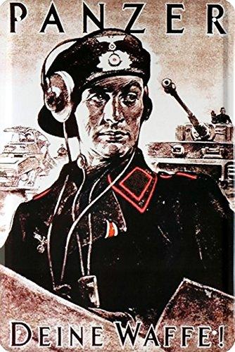 Figurine en t/ôle dun soldat du r/égime allemand 20 x 30 cm t/ôle r/étro/169