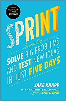 Image of the book Sprint which speaks about the product design process.