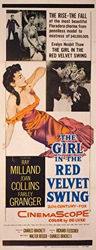 The Girl in the Red Velvet Swing 1955 U.S. Insert Poster (The Girl In The Red Velvet Swing 1955)