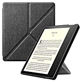 Fintie Origami Case for All-New Kindle Oasis (10th Generation, 2019 Release and 9th Generation, 2017 Release) - Slim Fit Stand Cover Support Hands Free Reading with Auto Wake Sleep, Denim Charcoal