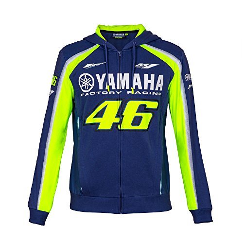 Valentino Rossi VR46 Moto GP M1 Yamaha Factory Racing Team Hoodie Official 2018