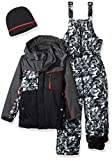 iXtreme Boys' Little Camo Print Snowsuit W/2fer Vestee Detail, Black, 6