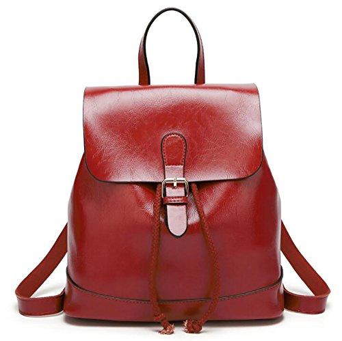 34 function Women's Backpack Handbag Fashion 34cm Casual Multi Bag Leather Soft pu 15 qvwaxwI4