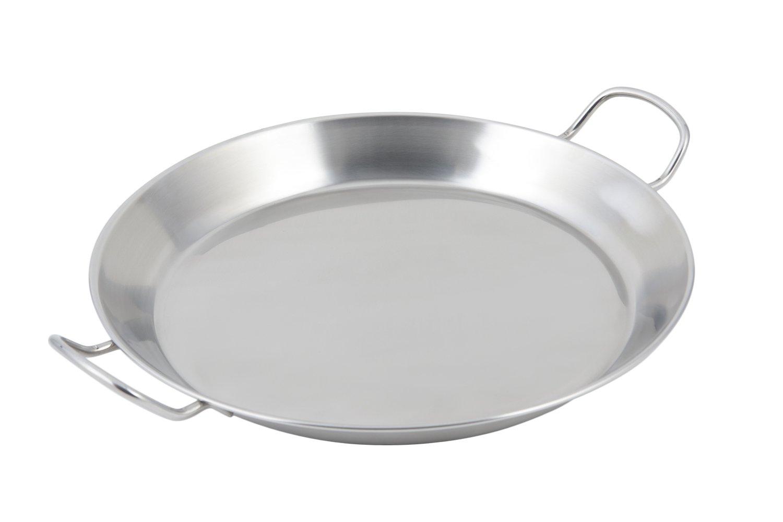 Bon Chef Paella de acero inoxidable bandeja de fondo para ...
