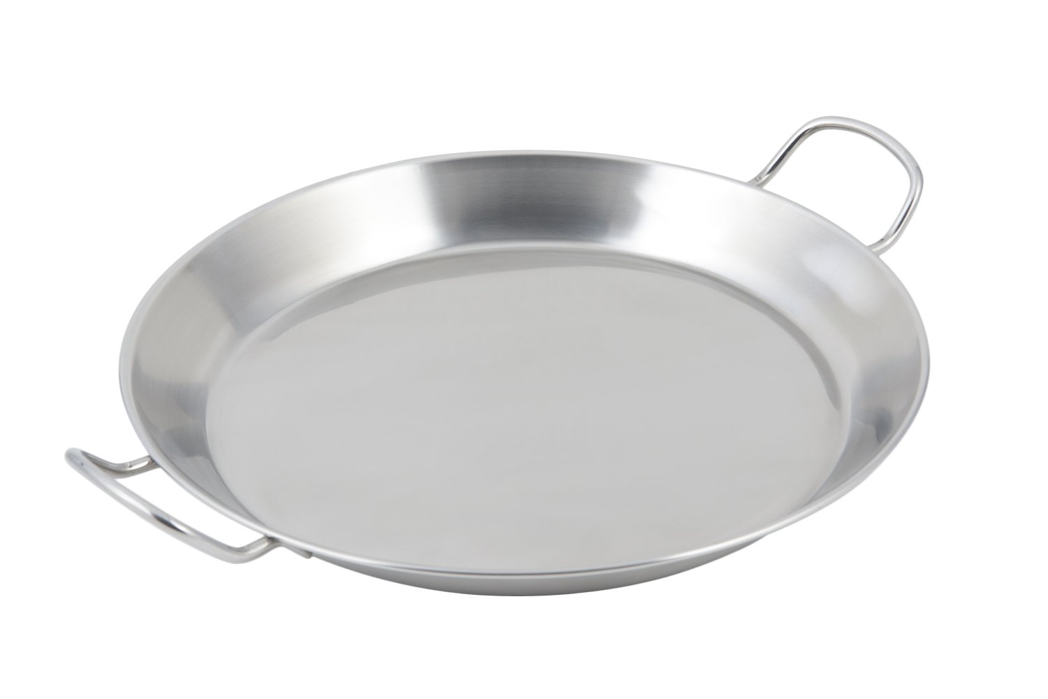 Bon Chef 61249 Stainless Steel Paella Induction Bottom Spanish Tray, 14-51/64'' Diameter