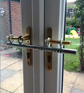 Amazon Com Handle Barred Security Bar For Double Doors