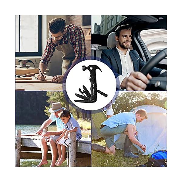 512V0DyaO0S Seven Sparta Camping Multitool Zubehör, 13 in 1 Multi Tools Hammer Cool Gadgets für Papa, Geschenke Strumpffüller Alles…