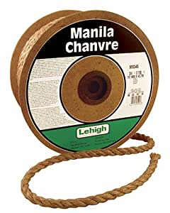 Lehigh Secure Line MR345 Twisted Manila Rope, 3/4-Inch by 150-Foot