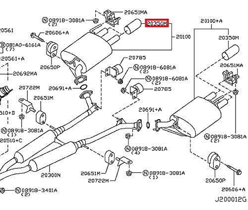 Amazon Com Infiniti 20080 Ej90a Exhaust Tail Pipe Tip Automotive