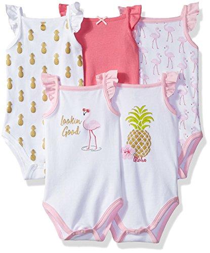 Hudson Baby Sleeveless Cotton Bodysuits