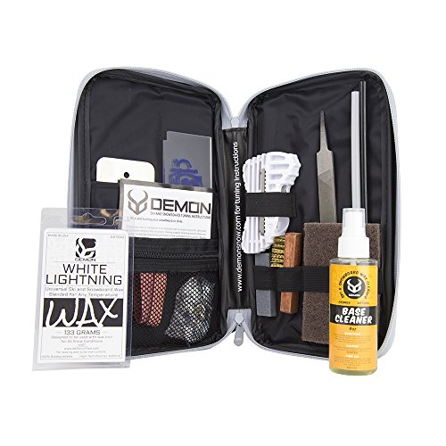 Demon Mechanic Ski & Snowboard Tuning Kit with Universal Wax & Base -