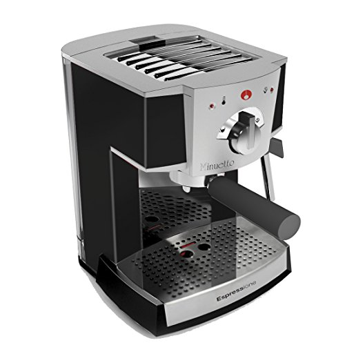 espressione delonghi of italy caf minuetto professional thermoblock espresso machine silver. Black Bedroom Furniture Sets. Home Design Ideas