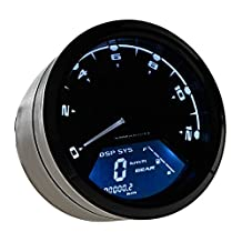 LTC® Universal 12000 RPM 199 KMH MPH Odometer Speedometer Tachometer for Honda Motorcycle Sctoor Golf Carts ATV