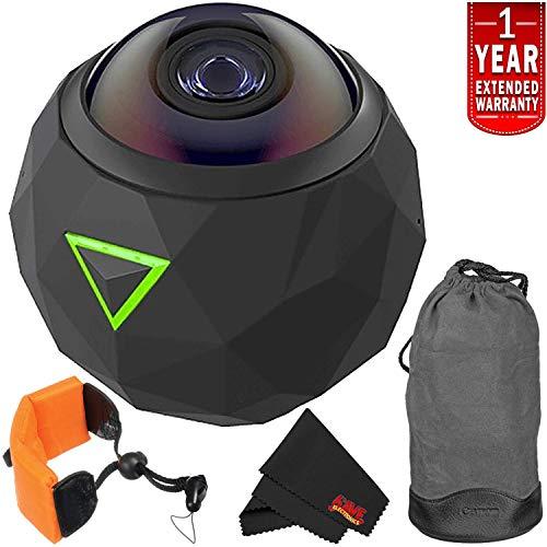 360fly 4K Waterproof Video Camera (FLYC4KC01BEN) Year Extended Warranty + Floating Strap International Version