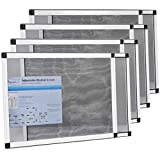 Fenestrelle Expandable Window Screen, 2 Way Adjustable, Horizontal (15'' h x 21-40'' w) or convert to Vertical (21'' h x 15-28'' w) - 4 Pack