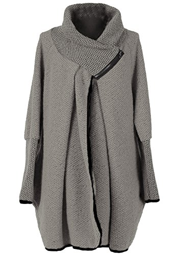 Ladies Gris Manteau Cape Stylish Femme Ox8Pwpdqq