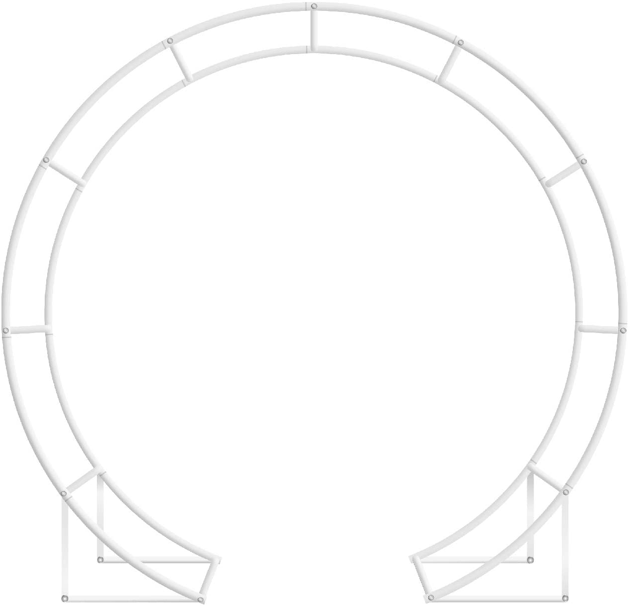 JC HUMMINGBIRD 5 Ft Round Metal Table Arch Garden Arbor for Garden, Outdoor, Party Decoration, Easy Assembly (with Support Legs, Ground Anchors, Screwdriver, Instructions)