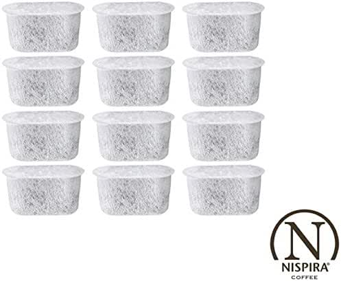 NISPIRA Replacement Activated Charcoal Water Filters for Cuisinart Coffee Machines Pack of 12