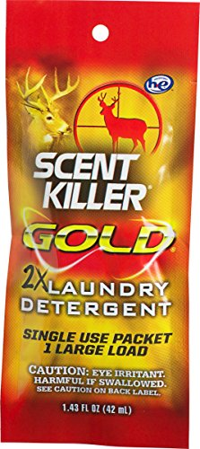 Scent Killer Gold Single Use Laundry Detergent, 1.43 Fl oz