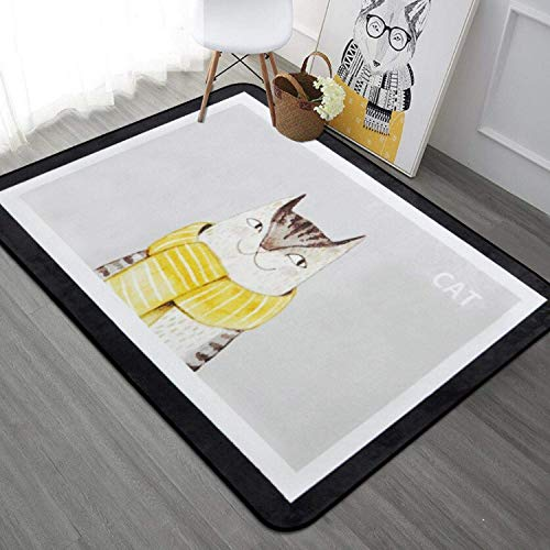 PILIBEIBEI Animal Printed Carpet Living Room Children Bedroom Rugs and Carpets Computer Chair Floor Mat for Bedroom Living Room,C,1.8X1.8M