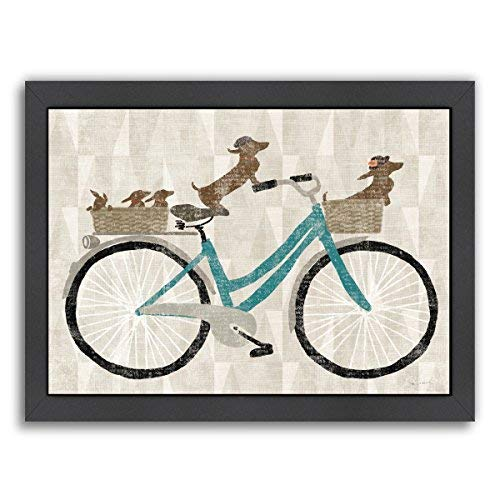 Americanflat Doxie Ride Ver Ii Gallery Wrapped Canvas 12 H x 15 W [並行輸入品]   B07GZHSJPH