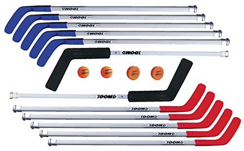 DOM Hockey Cup C6 Set, Includes 8 Sticks, 2 Goalie Sticks, 2 SuperPucks and 2 Balls ()