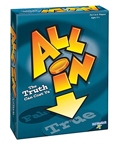 All In - True or False Party Game - Adult Group Board Game, Includes 600 Questions - For Ages 17 Plus -