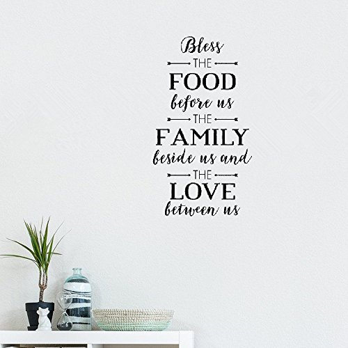 ilimar Wall Words Sayings Removable Lettering Bless The Food Handwritten -