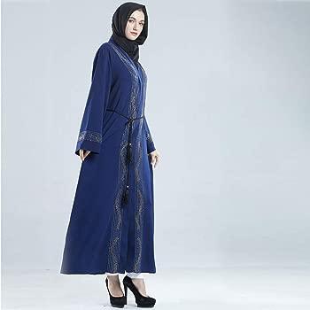 Sallydream Abaya Dubai Musulmana Diamond Mujer Musulmán Cardigan ...